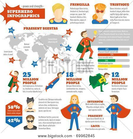 Super hero infographic