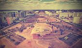 stock photo of brasilia  - Vintage retro style skyline of Brasilia City, Brazil