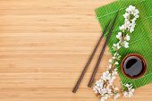 stock photo of soy sauce  - Chopsticks - JPG