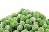 stock photo of peas  - Frozen green peas - JPG