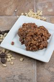 picture of crispy rice  - Chocolate and crispy rice no bake cookies - JPG