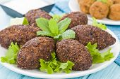 stock photo of oblong  - Kibbeh  - JPG
