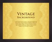 stock photo of exclusive  - Exclusive golden background with pattern in vintage style - JPG