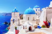 stock photo of traditional  - Oia town on Santorini island - JPG