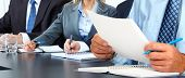 stock photo of financial audit  - Hands of man with paper sheet - JPG