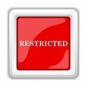 stock photo of restriction  - Restricted icon - JPG
