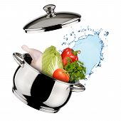 picture of water cabbage  - Cooking concept - JPG