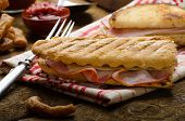 foto of french-toast  - Quick dinner toast with ham and cheese  - JPG