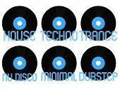 Постер, плакат: Electronic Music Genres Vinyl 1