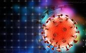 picture of hiv  - Digital illustration of  HIV Virus  in colour  background - JPG