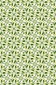foto of leafy  - Illustrated patterned background of leafy green plants - JPG