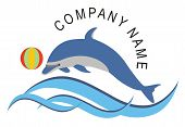 foto of dolphins  - Dolphin fish in the ocean can be use as a company logo or icon - JPG