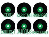 Постер, плакат: Electronic Music Genres Vinyl