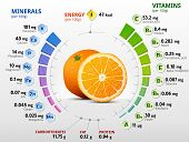 pic of orange  - Infographics about nutrients in orange - JPG