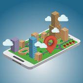 picture of gps navigation  - Smart Phone Navigation  - JPG