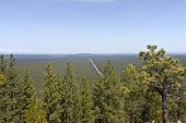 foto of butts  - Hazy view of route 97 north in central Oregon from Lava Butte - JPG
