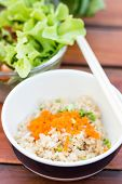 stock photo of baste  - The bast quality Fried rice with shrimp eggs - JPG