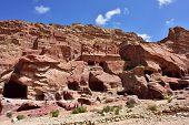 foto of petra jordan  - View at the archeological site of Petra - JPG