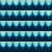foto of twisty  - wave seamless pattern with grunge effect  - JPG
