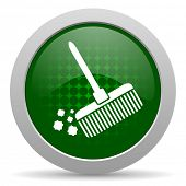 picture of broom  - broom icon clean sign  - JPG