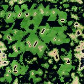 stock photo of camoflage  - green camouflage seamless texture  - JPG