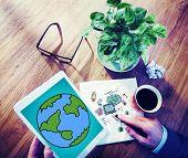 foto of globalization  - Global Networking Communication Economy Worldwide Concept - JPG