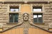 picture of art nouveau  - Art Nouveau building in Riga - JPG