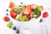 pic of fruit bowl  - fruit salad in bowl - JPG