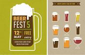 picture of alcoholic beverage  - Vintage poster of beer festival - JPG