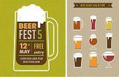 stock photo of beer mug  - Vintage poster of beer festival - JPG