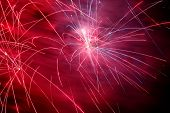 pic of guy fawks  - Firework exploding from a pyrotechnic celebration display - JPG