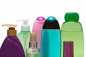 stock photo of gels  - Closed Cosmetic Or Hygiene  Plastic Bottle Of Gel - JPG