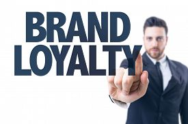 stock photo of loyalty  - Business man pointing the text - JPG