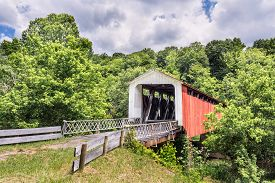 pic of yesteryear  - Also known as the Hills Covered Bridge or Lafaber - JPG